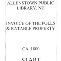 Allenstown Public Library, NH Invoice of the Polls & Ratable Property CA. 1800.compressed.pdf