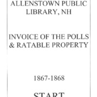 Allenstown Invoices of the Polls & Ratable Property 1867-68