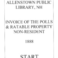 Allenstown Public Library, NH Invoice of the Polls & Ratable Property 1888 Non-Resident.compressed.pdf