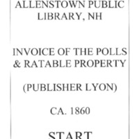Allenstown Public Library, NH Invoice of the Polls & Ratable Property CA. 1860 Lyon.compressed.pdf