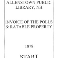 Allenstown Invoices of the Polls & Ratable Property 1878