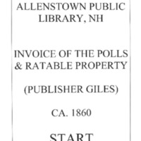 Allenstown Public Library, NH Invoice of the Polls & Ratable Property CA. 1860 Giles.compressed.pdf