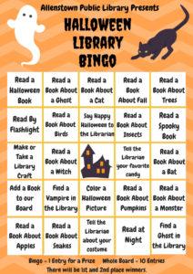 Halloween Library Bingo